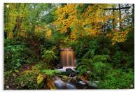 Rivelin Valley Waterfall, Acrylic Print