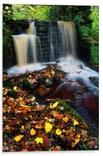 River Rivelin Waterfalls, Acrylic Print