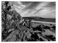 Hope Cove from Bigbury on Sea, Acrylic Print