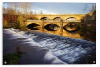 Norfolk Bridge and Burton Weir, Acrylic Print