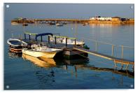 Swanage Pier and Boat Jetty, Acrylic Print