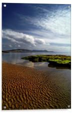 Lyme Regis Beach & Bay, Acrylic Print