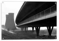 Tinsley Cooling Towers & Viaduct, Acrylic Print