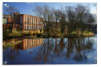 River Don at Kelham Weir, Acrylic Print