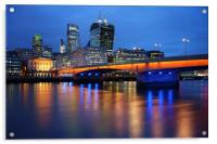 London Bridge Reflections, Acrylic Print