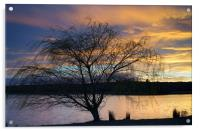Rother Valley Sunset, Acrylic Print