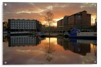Victoria Quays Sunset, Sheffield, Acrylic Print