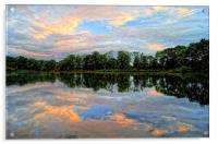 Chard Reservoir at Dawn, Acrylic Print