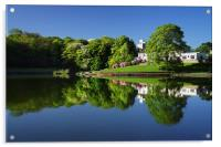 Crookes Valley Park Mirror Image, Acrylic Print