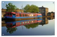 Sheffield Canal Reflections, Acrylic Print