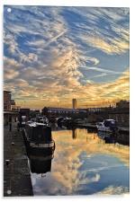 Sheffield Canal Sunset, Acrylic Print