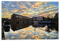 Victoria Quays Sunset, Acrylic Print