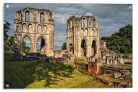Roche Abbey Ruins, Acrylic Print
