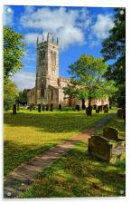 St John The Baptist Church,Wadworth, Acrylic Print