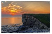 Nash Point Sunset , Acrylic Print
