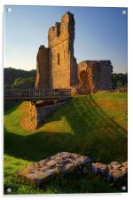 Ogmore Castle, Acrylic Print