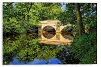 Leadmill Bridge and River Derwent Reflections, Acrylic Print
