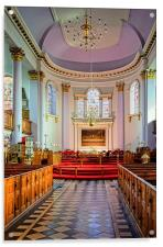 All Saints Church Interior, Gainsborough , Acrylic Print
