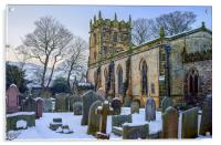 St Edmunds Church, Castleton in Winter, Acrylic Print