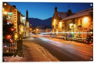 Christmas in Castleton , Acrylic Print
