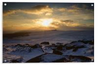 Carl Wark Winter Sunset , Acrylic Print