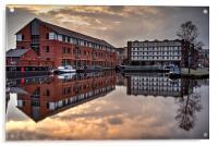 Victoria Quays Sunset , Acrylic Print