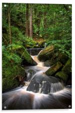 Wyming Brook Cascading Falls, Acrylic Print