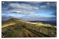 Footpath to Lose Hill , Acrylic Print