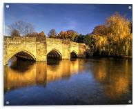 Bakewell Bridge and River Wye , Acrylic Print