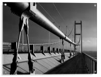 Humber Bridge in Mono, Acrylic Print
