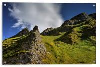 Limestone Pinnacles, Winnats Pass , Acrylic Print