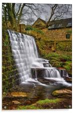 Lumsdale Falls and Dam , Acrylic Print