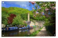 Rochdale Canal at Hebden Bridge , Acrylic Print