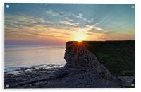 Sunset over Nash Point , Acrylic Print