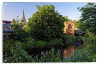 Chapel on the Bridge and Rotherham Minster , Acrylic Print