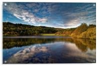 Rivelin Dams Reflections, Acrylic Print
