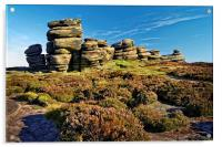 Wheel Stones, Derwent Edge, Peak District, Acrylic Print