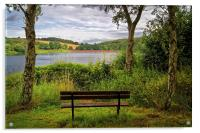 Ulley Bench with a View , Acrylic Print