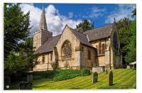 St Bartholomew's Church, Maltby , Acrylic Print