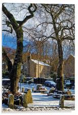 Bamford Village in Winter, Acrylic Print