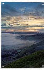 Hope Valley Inversion and Sunrise , Acrylic Print