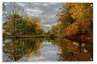 Bentley Brook Mill Pond , Acrylic Print