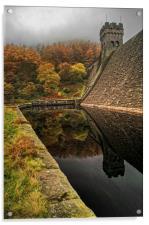 Autumn Shades at Derwent , Acrylic Print