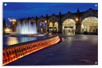 Sheaf Square at Night , Acrylic Print