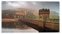 Mist over Derwent Dam , Acrylic Print