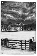 Gateway to Bamford Edge , Acrylic Print