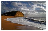 Stormy day at West Bay, Acrylic Print