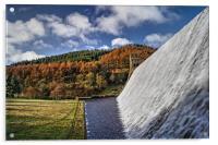 Derwent Dam in Autumn, Acrylic Print