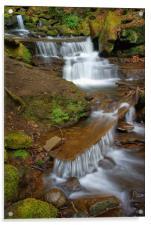 Lumsdale Cascading Falls, Acrylic Print