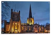 Sheffield Cathedral at Night, Acrylic Print